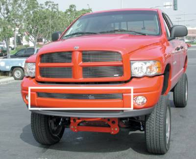 T-Rex - Dodge Ram T-Rex Bumper Billet Grille Insert - Use with Painted Bumpers - 25466