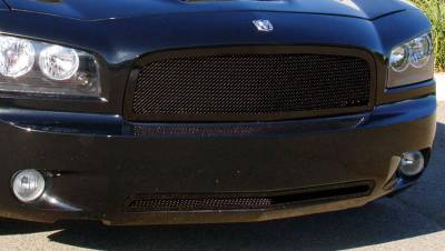 T-Rex - Dodge Charger T-Rex Upper Class Mesh Grille - All Black - 51474