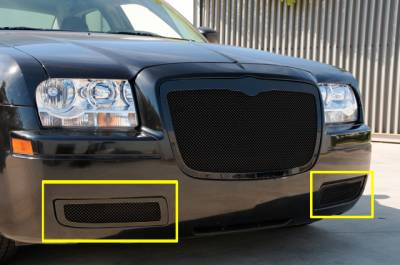 T-Rex - Chrysler 300 T-Rex Upper Class Mesh Bumper Grille - All Black - 52472