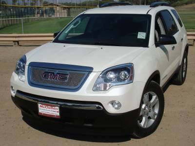 T-Rex - GMC Acadia T-Rex Upper Class Polished Stainless Mesh Grille - Overlay with Logo Opening - 54386