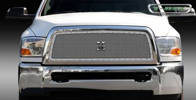 T-Rex - Dodge Ram T-Rex X-Metal Series Studded Main Grille - Custom Full Opening - Polished Stainless Steel - 1PC - 6714510