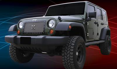 T-Rex - Jeep Wrangler T-Rex X-Metal Series Studded Main Grille - Polished Stainless Steel - 1PC Custom - 6714830