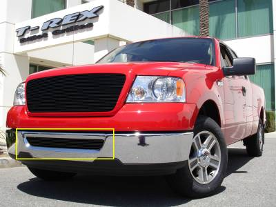 T-Rex - Ford F150 T-Rex Bumper Billet Grille Insert - All Black - 25555B