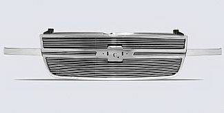 Street Scene - Chevrolet Silverado Street Scene Chrome Grille Shell with 4mm Polished Billet Grille - 950-75554