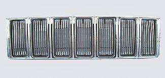 Street Scene - Jeep Cherokee Street Scene Chrome Grille Shell with 4mm Billet Grille - 950-75599