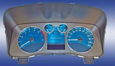 US Speedo - US Speedo Aqua Blue Stainless Steel Gauge Face Kit with White Background and Matching Needles - AQ H3 11
