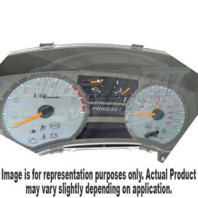 US Speedo - US Speedo Silver Exotic Color Gauge Face - Displays 120 MPH - Gas - No Transmission Temperature - CK1200432