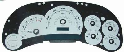 US Speedo - US Speedo White Platinum Exotic Color Gauge Face - Displays 120 MPH - Gas - No Transmission Temperature - CK1200530