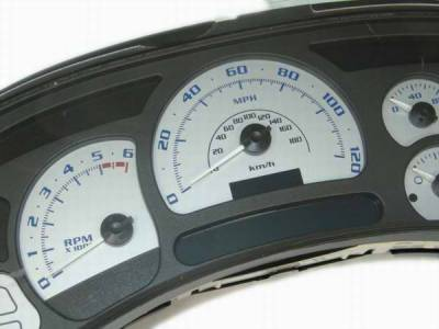 US Speedo - US Speedo Silver Platinum Exotic Color Gauge Face - Displays 120 MPH - Gas - No Transmission Temperature - CK1200532