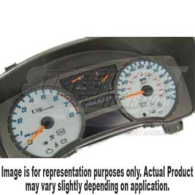 US Speedo - US Speedo White Exotic Color Gauge Face - Displays 200KPH - Gas - Transmission Temperature - CK2000440
