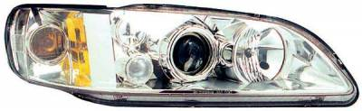 TYC - TYC Projector Headlights with Chrome Housing - 80610300
