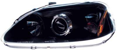 TYC - TYC Projector Headlights with with Black Housing - 80610540