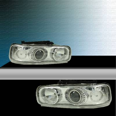 TYC - TYC Projector HID Headlights with Chrome Housing - 80644580