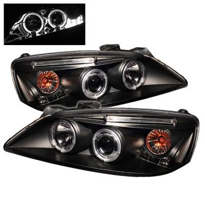 Spyder - Pontiac G6 Spyder Projector Headlights - LED Halo - LED - Black - 444-PG605-HL-BK