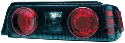 TYC - TYC Euro Taillights with Carbon Fiber Housing and Paintable Bezel - 81559500