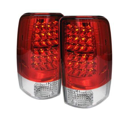 Spyder - GMC Yukon Spyder LED Taillights - Red Clear - 111-CD00-LED-RC