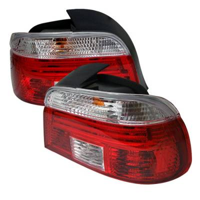 Spyder - BMW 5 Series Spyder TaillighT-Red Clear - ALT-CI-BE3997-RC