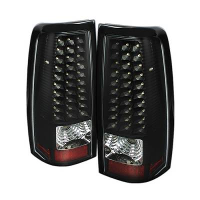 Spyder - Chevrolet Silverado Spyder LED Taillights - Black - ALT-ON-CS03-LED-BK