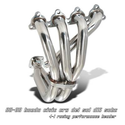 OptionRacing - Honda Civic Option Racing Racing Exhaust Header - 43-20120
