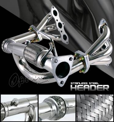 OptionRacing - Honda Accord Option Racing Stainless Steel Exhaust Header - HDS-HA98V6