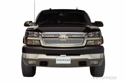 Putco - Chevrolet Silverado Putco Punch Grille Insert with Wings Logo - 56157