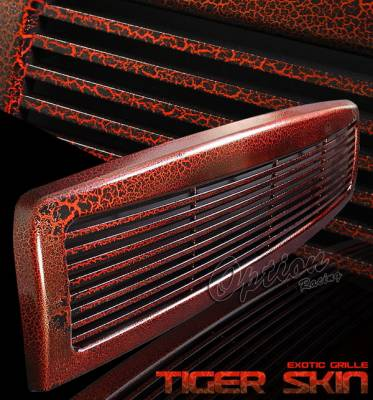 OptionRacing - Dodge Ram Option Racing Exotic Tiger Grille - S06 Style - 65-17360