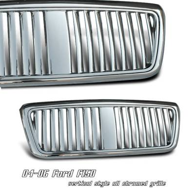 OptionRacing - Ford F150 Option Racing Vertical Grille - 65-18168
