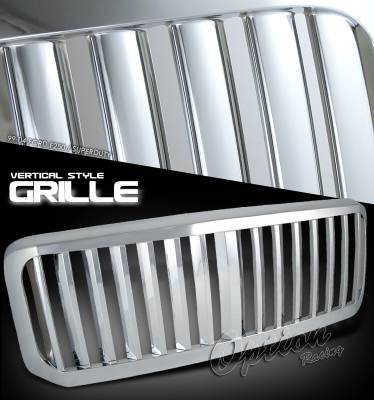OptionRacing - Ford Superduty Option Racing Vertical Grille - 65-18180