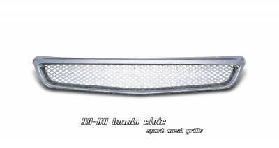 OptionRacing - Honda Civic Option Racing Mesh Sport Grille - 65-20207