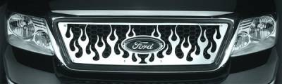 Pilot - Ford F150 Pilot Stainless Steel Flame Honeycomb Grille Insert - 1PC - SG-243