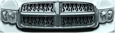 Pilot - Dodge Ram Pilot Stainless Steel Flame Grille Insert - 1PC - SG-342
