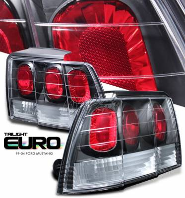 OptionRacing - Ford Mustang Option Racing Taillights - Black Altezza - G1 - 19-18348