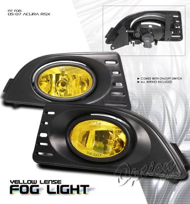 OptionRacing - Acura RSX Option Racing Fog Light Kit - 28-10191