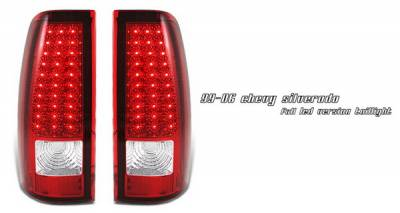 OptionRacing - Chevrolet Silverado Option Racing LED Taillights - Red Full LED Version - 75-15142