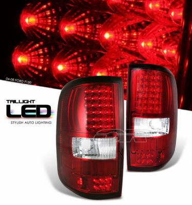OptionRacing - Ford F150 Option Racing LED Taillights - Red Full LED Version - 75-18208