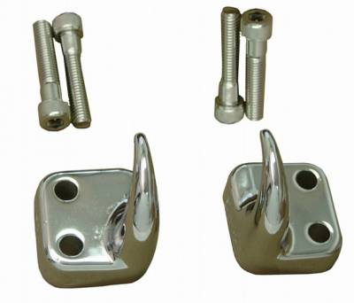 Omix - Rugged Ridge Tow Hook - Front - Pair - Chrome - 11303-01