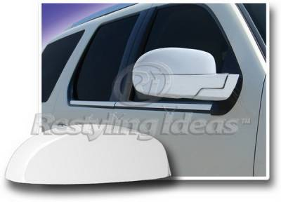 Restyling Ideas - Cadillac Escalade Restyling Ideas Mirror Cover - Top Half - Chrome ABS - 67314
