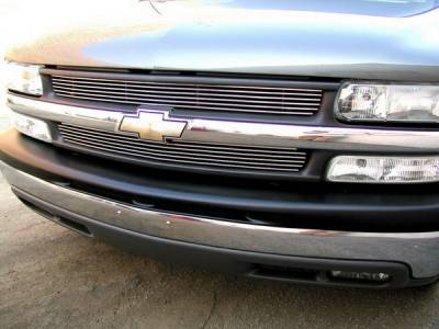 Grillcraft - Chevrolet Suburban BG Series Black Billet Upper Grille - 2PC - CHE-1500-BAC