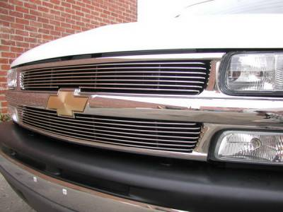 Grillcraft - Chevrolet Silverado BG Series Black Billet Upper Grille - 2PC - CHE-1500-BAO