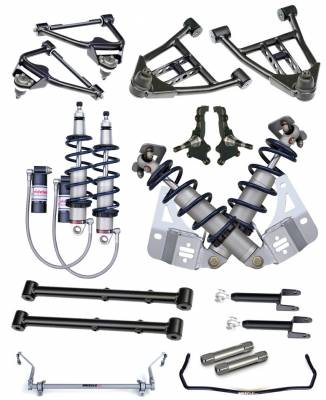 RideTech by Air Ride - GMC Caballero RideTech Level 3 CoilOver System - Triple Adjustable - 11230311