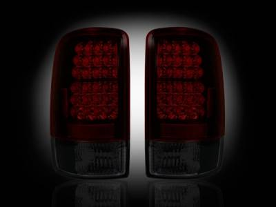 Recon - GMC Denali Recon LED Taillights - Dark Red Smoked Lens - 264177RBK