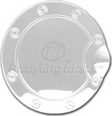 Restyling Ideas - Ford F350 Restyling Ideas Fuel Door Cover - Stainless Steel - 34-SSM-201