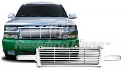 Restyling Ideas - Chevrolet Suburban Restyling Ideas Grille - 72-PC-SIL99BL