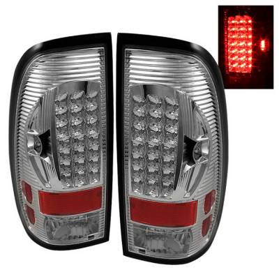 Spyder Auto - Ford F150 Spyder LED Taillights - Chrome - ALT-ON-FF15097-LED-C