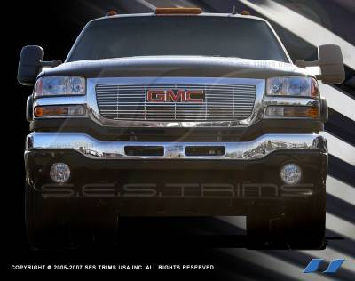 SES Trim - GMC Sierra SES Trim Billet Grille - 304 Chrome Plated Stainless Steel - CG104