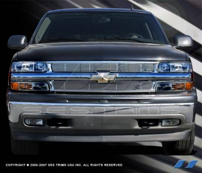 SES Trim - Chevrolet Silverado SES Trim Billet Grille - 304 Chrome Plated Stainless Steel - CG117