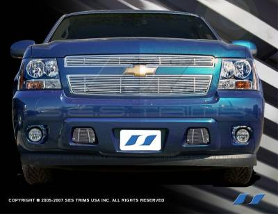 SES Trim - Chevrolet Avalanche SES Trim Billet Grille - 304 Chrome Plated Stainless Steel - Bottom - CG145B