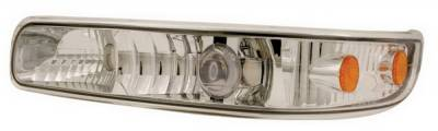 In Pro Carwear - Chevrolet Silverado IPCW Projector Park Signals - Front with Amber Reflector - 1 Pair - CWC-CE16-A