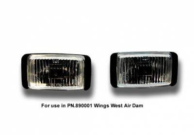 Wings West - Chevrolet S10 Wings West Fog Light Set - 301062