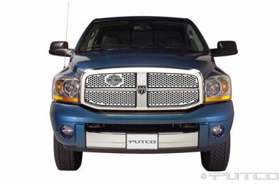 Putco - Dodge Ram Putco Punch Grille Insert with Bar & Shield - 52156